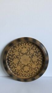 Handmade European Maple Wood Plate With Mandala Pyrography Pattern