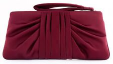 NWT KATE LANDRY 10OC LARGE ZIP EVENING BAG CARRYALL PHONE WRISTLET CLUTCH WINE