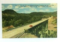 Bluestone Gorge West Virginia Charlton Memorial Bridge Turnpike Vintage Postcard