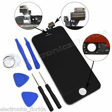 Black LCD Screen Replacement Digitizer Glass Assembly For iPhone 5 with tools