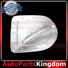 Triple Chrome Fuel Tank Gas door Cover for Nissan 05-15 Frontier Short Truck Bed