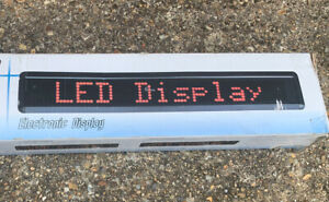 LED Scrolling Digital Moving Message Sign Board Multi-Colour with Remote