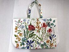 New! ESTĒE LAUDER Canvas Tote Shopper Bag White Color With Flower Design