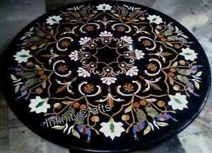 48 Inch Marble Dining Table Top Marquetry Art Coffee Table for Restaurant Decor