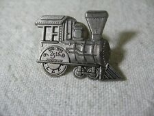 1998 HMK Trains 25th Anniversary Pewter Tone Pinback Lapel Pin Tie Tack ~