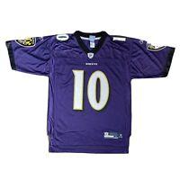 Reebok On Field NFL Equipment Baltimore Ravens SMITH #10 Purple Jersey Shirt M