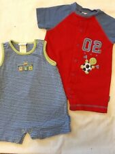 Carter's lot of 2 rompers 3-6 months