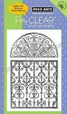 "HERO ARTS Poly Clear Stamps FLOURISH GRIDS CL425 Photo Polymer 4"" x 6"""