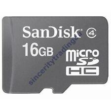 SANDISK MICRO SD MICRO SDHC 16GB 16G 16 G GB FLASH MEMORY CARD BRAND NEW A