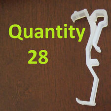 """Qty 28 of 2.5 Inch Valance Clips For Horizontal Faux & Wood Blinds Parts 2 1/2"""""""