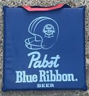 RARE Vintage Pabst Blue Ribbon Beer Vinyl Seat Cushion PBR Beer 2 Sided Man Cave