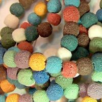 Lava Bead 12mm Colored Diffuser Scent Aromatherapy Essential Oil Jewelry Making
