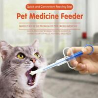 Pet Syringe Tablet Pill Gun Piller Push Dispenser Medicine Water Milk dog cat.