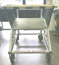 (8) AAE Aluminum Adjustable Track Hurdle with Transport Aluminum Cart $799. obo