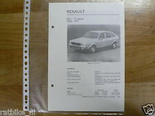 R35-RENAULT 20L EN TL SEDAN 1976-1977 -TECHNICAL INFO