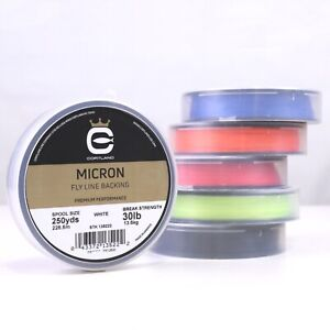 Cortland Micron Fly Line Backing 30 lb 250 yds - ALL COLORS - FREE SHIPPING