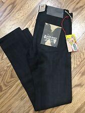 NAKED & FAMOUS DENIM Super Guy -Black x Grey Stretch Selvedge Skinny Jeans Sz 31