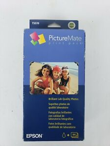 Epson PictureMate Print Pack 100 Photo Sheets & T5570 Ink Cartridge Exp 2006