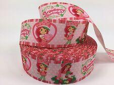 "BTY 1 1/2"" Cute Strawberry Shortcake Grosgrain Ribbon Lanyards Hair Bows Lisa"