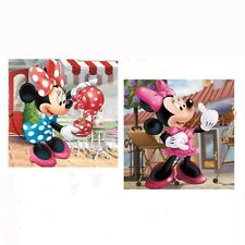 Minnie Mouse Tea Party/Playing Violin Cushion Cover Print On Two Sides 16x16in