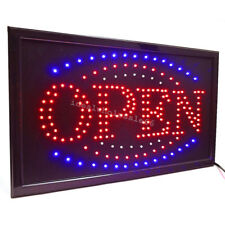 Bright Led Illuminated Neon Light Animated Motion w/ On/Off Open Business Sign