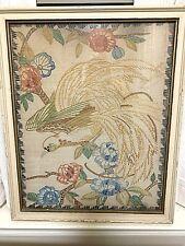 3 large Antique 1938 framed needlework signed on back
