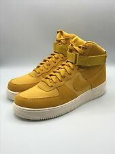 Nike Air Force 1 High 07 Suede Yellow Ochre White AQ8649-700 Men's Size 11