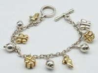 Sterling  Silver Charm Bracelet & Charms MILOR ITALY for QVC.