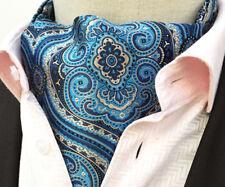 NEW Baby blu seta uomo foulard DA COLLO ascot Cravatta Set con tasca corrispondenti Quadrato/Fazzoletto