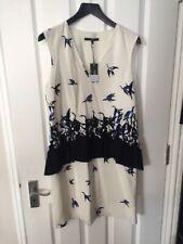 TIBI Silk Mix Multi Printed Dress Size 8uk