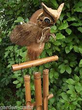 FLYING OWL WINDCHIME - Bamboo - Fair Trade & Handmade - 50cm to longest chime