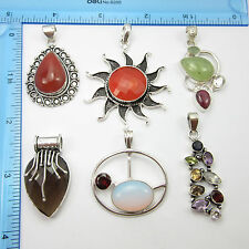 Free Shipping Online Stores ! 925 Silver Plated Lot Of Jewellery Pendants 6Pcs