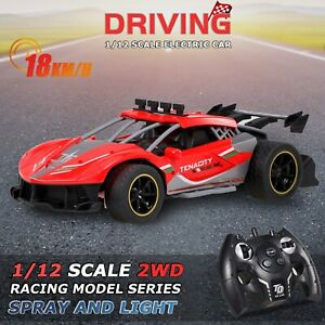Remote Control Car High Speed RC Toy Cars 2.4Ghz Fast Racing Drifting Kids Fog