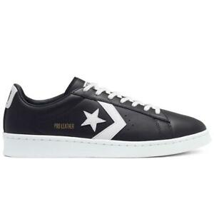 NEW IN BOX! MENS CONVERSE Pro Leather OX Black White CASUAL SNEAKER 167238C