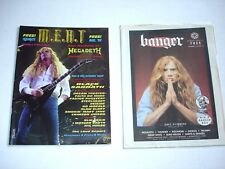 MEGADETH Dave Mustaine on cover magazine LOT of 2 rare M.E.A.T Banger