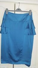 reiss turquoise satin skirt size 10 would fit 12