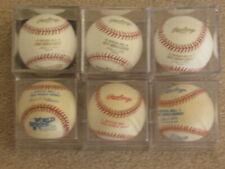 6 Different Official World Series Baseballs