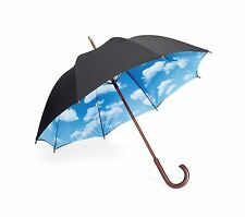 MoMA Sky Umbrella Wooden Handle Outdoor Rain Cover Travel Unique Design Unisex