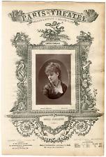 Lemercier, Paris-Théâtre, Sophie Alexandrine Croizette (1847-1901), actrice Vint