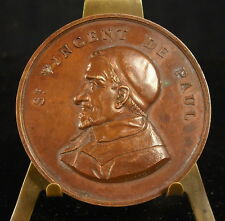 Médaille Saint Vincent de Paul à TANQUEREL de La PANISSAIS Poinçon Pipe  Medal