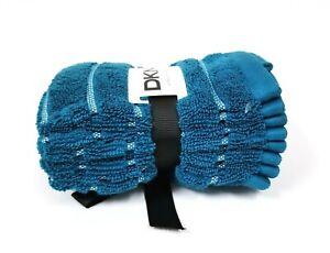 NEW DKNY TEAL BLUE STRIPES 100% COTTON BATH TOWEL OR 4 WASH CLOTHES