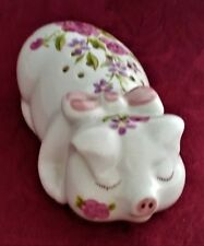 Ceramarte Brazil for Avon 1978 Sleeping Pig Pomander Potpourri Holder VGC