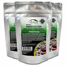Hibiscus Tea 3-Pack 90 Bags 100% Natural Premium Antioxidant Rich Tea