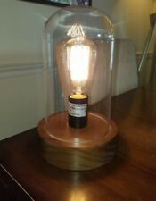 Edison Glass Cloche Table Lamp Edison Bulb Included New