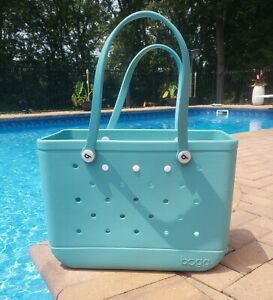 Original Large Bogg Bag Turquoise and Caicos Turquoise Beach bag XLarge NWT NEW