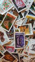 Lot 100 timbres différents France avec série Animaux du monde