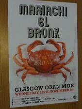 Mariachi El Bronx - Glasgow nov.2009 concert tour gig poster