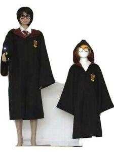 PREMIUM HARRY POTTER Cosplay Costume Gryffindor Robe Cloak Scarf Wand UK Seller