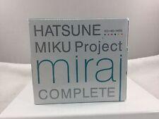 Hatsune Miku Boxed 5 CD 1 Blu Ray 1 Vinyl Figure Project Mirai LE Set w Mikuday