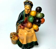 Vintage Roman Art Company - Robia Ware - Old Lady Selling Balloons - Chalk Ware